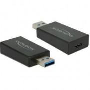 DeLOCK 65689 USB 3.1 Gen 2 Type-A USB 3.1 Gen 2 USB Type-C Zwart kabeladapter/verloopstukje