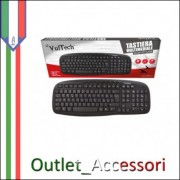 Tastiera Keyboard Multimediale USB 2.0 Vultech per PC Desktop Computer