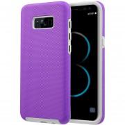 Funda Case Para Samsung S8 Doble Protector De Plástico Super Resistente Uso Rudo - Morado