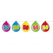 Merkloos 50 Jaar verjaardag leeftijd versiering ballon slingers van 10 meter