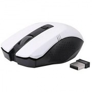 Adnet AD-999 Stylishes Anti Slip Wireless mouse White Color With Nano Receiver 1600 Dpi