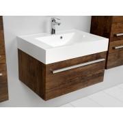 Antado Spektra szafka z umywalką, wisząca 70x50x33 stare drewno 651715/617216