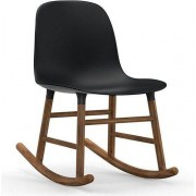Normann Copenhagen Krzesło bujane Form drewno orzechowe czarne