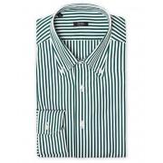 Barba Napoli Slim Fit Button Down Pocket Shirt White/Green