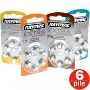 batterie pile acustiche a bottone- tipo 675 / 13 / 312 / 10 - rayovac