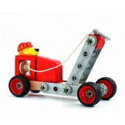 Djeco Zooblock Construction Lion Fire Truck Toy