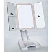 LAGUTE Make-up spiegel met LED Verlichting - 3 Licht Modes - Cosmetica Spiegel - 72 LED Lampen - USB Kabel - Touch Knop - met Vergroting