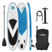 Klarfit Spreestar 320 Tabla de paddle surf hinchable SUP- Board-Set 320x12x81 azul-blanco (FITN2-Spreestar320B)