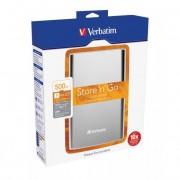 Verbatim 2,5\-os HDD 500GB Ezüst, USB 3.0 csatlakozás