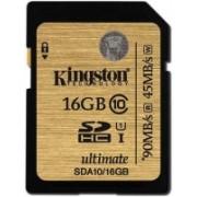 Kingston UHS-1 16 GB SDHC Class 10 90 MB/s Memory Card