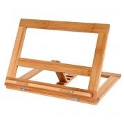 Verstelbare boekenstandaard van bamboe hout - Boekenhouder voor o.a. kookboek (als kookboekstandaard in keuken), tablet of boek - Kookboeken standaard - Boekensteun, verstelbaar & inklapbaar - Decopatent®