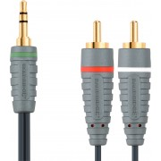 0 High-End 3,5mm kabel till 2 x RCA - 1m