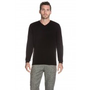 Cashmere Spirit Pullover, Kaschmir, V-Ausschnitt schwarz