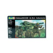 Revell 03163 Challenger 1 Tank & British Infantry Plastic Diorama Set In 1/72 Scale