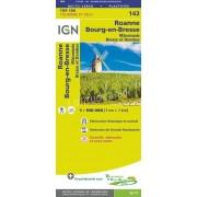 Fietskaart - Wegenkaart - landkaart 142 Roanne - Macon | IGN