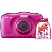 Nikon Aparat Coolpix W100 Różowy + Plecak