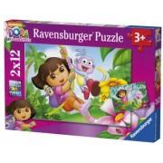 Puzzle Dora, 2X12 Piese Ravensburger