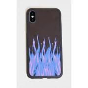PrettyLittleThing Coque violette pour iPhone 10/XS à flammes, Violet - One Size