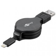Goobay Cavo Retrattile da Apple Lightning a USB 1m Nero