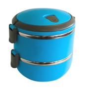 Cutie,caserola termos rotunda transport alimente, set 2 piese plastic-inox, 16cm, 0198435,