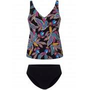 Anita Dames Tankini met bladmotieven Van Rosa Faia multicolour