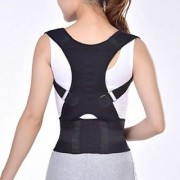 Lionix Posture Corrector Back Brace Waist Wide Straps Support with Adjustable Size for Upper Back Pain Relief Improve Sitting and Standing Posture