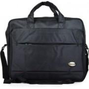 Fashion Knockout 15 inch Expandable Laptop Messenger Bag(Black)