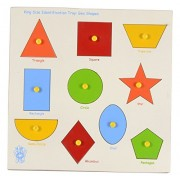 Skillofun Wooden Large 'Shapes' Shape Tray - Triangle, Multi Color
