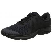 Nike Boy's Revolution 4 (GS) Running Shoes (4 Big Kid M, Black/Black)