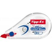 Tipp-Ex Correctie Tape Roller Mini Pocket Mouse 5 mm x 6 m Wit