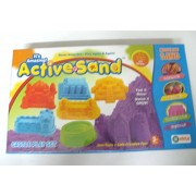 Art box Castle play Active sand in a beautiful pack for birhthday gift or childs activity
