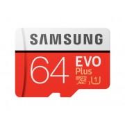 Card memorie Samsung MB-MC64HA EU, Micro-SDXC, EVO Plus, 64GB, rata transfer r w 100 20 MB s, Class 10, UHS-I, (Adaptor SD inclus)