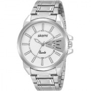 Skemi Analog Round White Dial Men Watch / Fashionable Men Watch / Watches For Men -068
