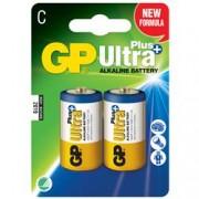 Gp Batteries Blister 2 Batterie Mezza Torcia C GP Ultra Plus