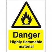 Unbranded Warning Sign Highly Flammable Plastic 30 x 20 cm