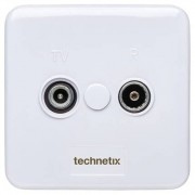 Technetix Tweegats Wandcontactdoos TRAS2000