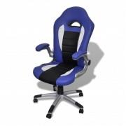 vidaXL Scaun birou piele artificială design modern Albastru