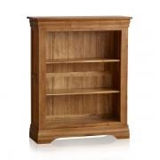 Oak Furnitureland Rustic Solid Oak Bookcases - Small Bookcase - French Farmhouse Range - Oak Furnitureland
