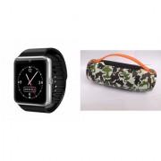 Zemini GT08 Smart Watch and Mini Xtreme K5 + Bluetooth Speaker for SONY xperia go(GT08 Smart Watch with 4G sim card camera memory card |Mini Xtreme K5 + Bluetooth Speaker )