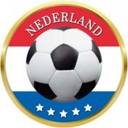 Nederland voetbal onderzetters/bierviltjes - 50 stuks - Nederlands voetbal feestartikelen