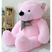 Multi Soft Fabric India Kid's 3 Feet Jumbo Teddy Bear Stuffed Soft Push Toy, Good Quality Fabrics (Pink)