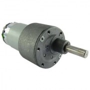 TechDelivers 500 rpm Johnson Side Shaft Metal Geared Motor 12v DC High Torque - 1 Piece