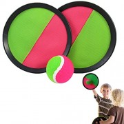 "Dazzling Toys Catch Ball Game Set - Include 2 Sets on Discs and Balls - Toss and Catch Sports Game Set - 7"" Diameter Disc"