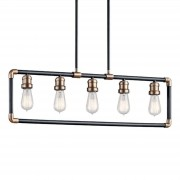Five-bulb pendant light Imahn in a vintage look