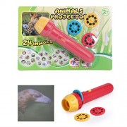 ShopMeFast Kids Animals Projector Toy with 24 Animal Images (Multicolor)