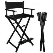 Duralová skládací kosmetická židle černá 9851