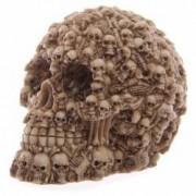 Craniu din rasina decorat cu multiple cranii