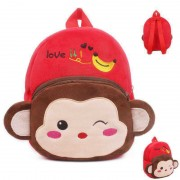 Red and Brown Monkey Baby Bag Stuffed Soft Plush Toy