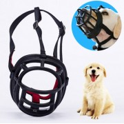 Dog Muzzle Prevent Biting Chewing and Barking Allows Drinking and Panting Size: 8.2*7.6*10.4cm(Black)