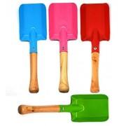 Annymall Kids Garden Tools 4-Piece Shovel Set, Metal With Sturdy Wooden Handle Safe Gardening Trowel For Children (Multi, 8)
